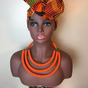 East African handmade statement necklace